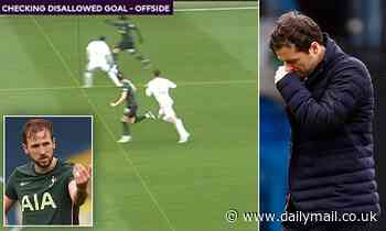 Ryan Mason left 'shocked' after Harry Kane saw a goal ruled out in Tottenham's defeat by Leeds