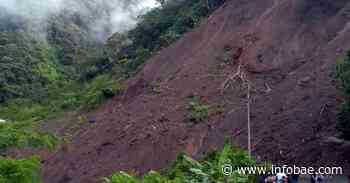 Por derrumbe, se encuentra cerrada la vía Dabeiba-Mutatá, en Antioquia - infobae