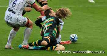 Dan Biggar involved in sickening head collision as he's taken off and fails HIA - Wales Online