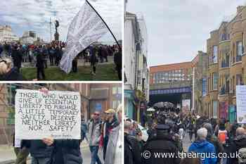 Recap: Anti-lockdown protesters gather in Brighton and Hove