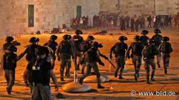 Jerusalem: Mehr als 200 Verletzte bei Zusammenstößen auf dem Tempelberg - BILD