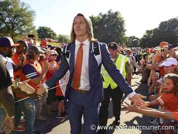 Clemson's Trevor Lawrence's hair stylist sends him off to Jacksonville - Charleston Post Courier