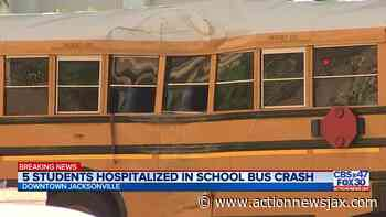 School bus involved in crash in downtown Jacksonville, multiple students taken to hospital - ActionNewsJax.com