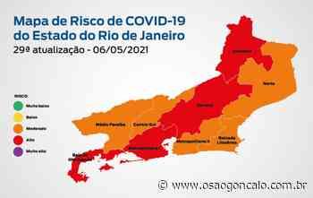 Mapa de Risco Covid-19: estado do Rio de Janeiro está em bandeira laranja - O São Gonçalo