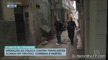 Operação em comunidade termina em 25 mortos no Rio de Janeiro - Record TV