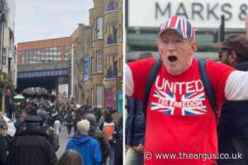 Anti-lockdown protesters march in Brighton