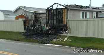 Mobile home evacuated, 1 injured after Calgary fire