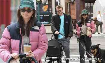 Emily Ratajkowski takes baby Sylvester for a stroll in NYC alongside husband Sebastian Bear-McClard