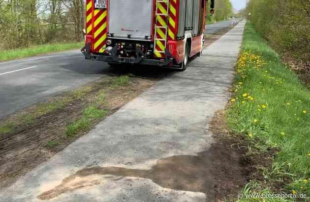 FFW Schiffdorf: Illegal entsorgtes Öl sorgt für Einsatz der Feuerwehr