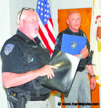New Baden Officer Presented with Commendation – Herald Publications - Herald Pubs