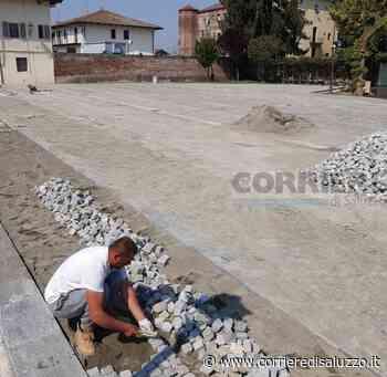 Villanova Solaro: Lavori su piazza Pairotti - Il cantiere è alle battute finali - Il Corriere di Saluzzo