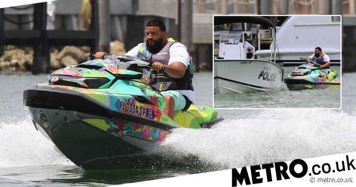 DJ Khaled gets stopped for speeding in the middle of the water in Miami in latest jet ski debacle