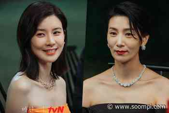 "Lee Bo Young And Kim Seo Hyung Show Their Unique Charms With Contrasting Dresses In New Drama ""Mine"" - soompi"