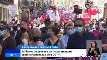 Porto. Milhares de pessoas participaram numa marcha convocada pela CGTP - RTP