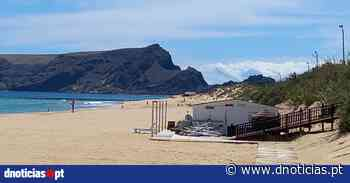 Trabalhos de planagem de zona de lazer na praia do Porto Santo - DNoticias