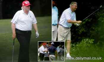 Photos catch Lindsey Graham golfing with Donald Trump