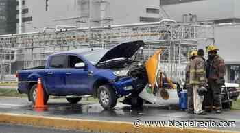 Mujer pasajera de taxi muere tras fuerte choque en Guadalupe Foto - Blog del Regio