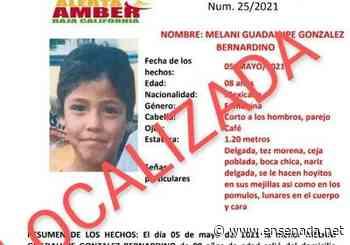 Localizaron a Melani Guadalupe González Bernardino - Ensenada.net