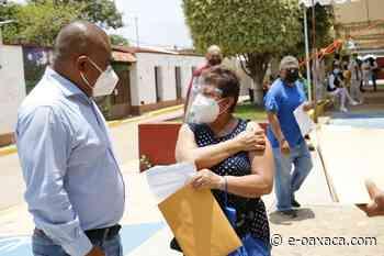 Finaliza primer día de vacunación contra Covid-19 en Santa Lucía del Camino - e-oaxaca Periódico Digital de Oaxaca