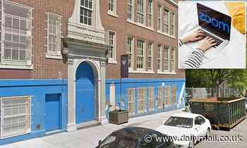 Spanish teacher at prestigious New York secondary school is caught sucking topless man's nipple