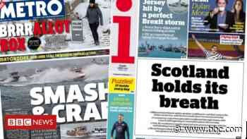 Scotland's papers: Scotland 'holds its breath' and Brexit 'storm' - BBC News