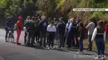 Manifestantes y Alcaldía de La Ceja lograron acuerdo para habilitar la vía - Telemedellín