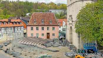 Domfestspiele Bad Gandersheim: Tribüne wird aufgebaut - HarzKurier