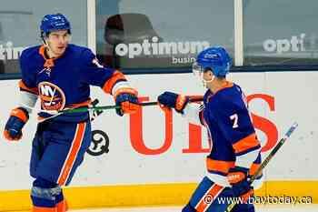 Nelson scores 2 as Islanders beat Devils 5-1 in home finale