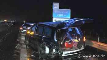 Autobahn mehrere Stunden gesperrt: Glätteunfall auf A31 mit Verletzten nach Schneefällen bei Weener - NOZ