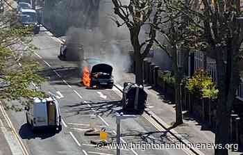 Brighton and Hove News » Two car blazes halt traffic this morning - Brighton and Hove News