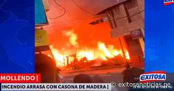¡Atención! Mollendo | Reportan incendio en inmueble de madera - exitosanoticias