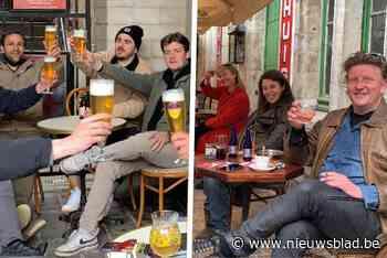 Gentenaars zijn op de afspraak: terrassen zien eerste klanten, het bier vloeit al - Het Nieuwsblad