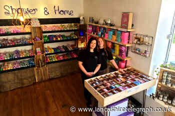 Booming bath bomb business opens new Rawtenstall shop