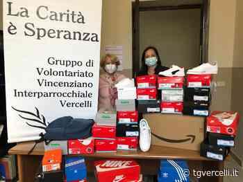 Scarpe e zaini distribuiti dal Gruppo Vincenziano grazie ad Amazon - TG Vercelli - tgvercelli.it