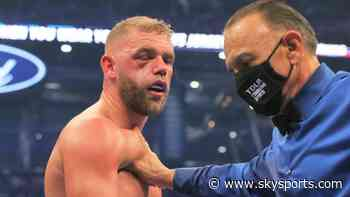 Saunders suffered 'busted eye socket'