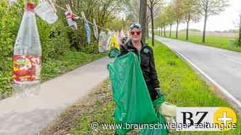 Girlande der Schande hängt in Ehmer Straße in Fallersleben