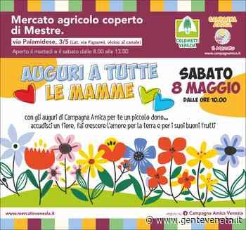 Mestre: la Coldiretti regala un omaggio floreale per la festa della mamma al mercato agricolo coperto - Gente Veneta