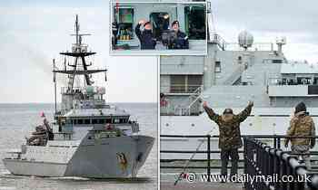 HMS Severn joins sister ship Tamar at Portsmouth after gunboats saw off angry French skippers