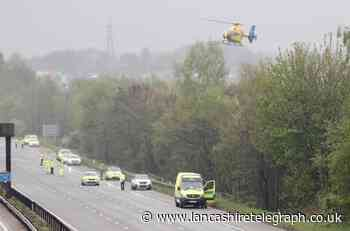 Woman dies and man fighting for life after M66 crash