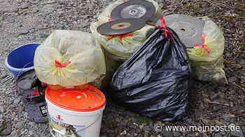 Rottendorf Grüne Fraktion Rottendorf sammelte in freier Natur Müll ein - Main-Post