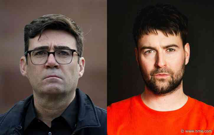 Manchester Mayor Andy Burnham shouts out The Courteeners in victory speech