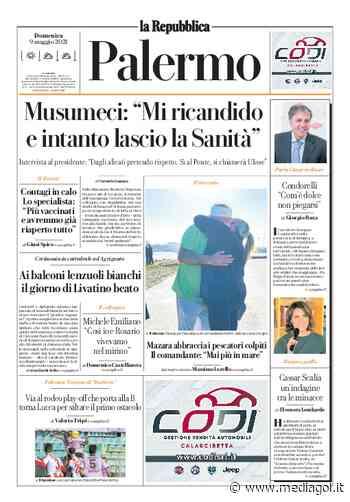 """Prima Pagina, La Repubblica-Palermo: """"Via al rodeo play-off che porta alla B. Musumeci…"""" - Mediagol.it"""