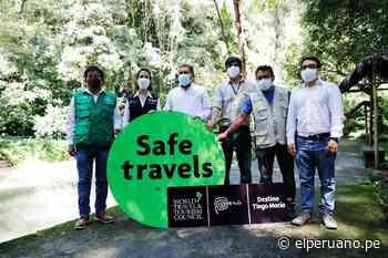 Tingo María recibe sello de seguridad internacional en turismo Safe Travels - El Peruano