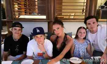 Victoria Beckham shares heartwarming family throwback snap with her four children