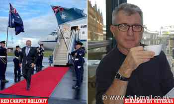 Veteran soldier Ray Martin slams Scott Morrison for red carpet walk at RAAF army base in Williamtown