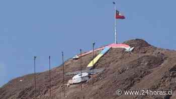 Ancla de Antofagasta fue pintada con los colores de la bandera colombiana. - 24Horas.cl
