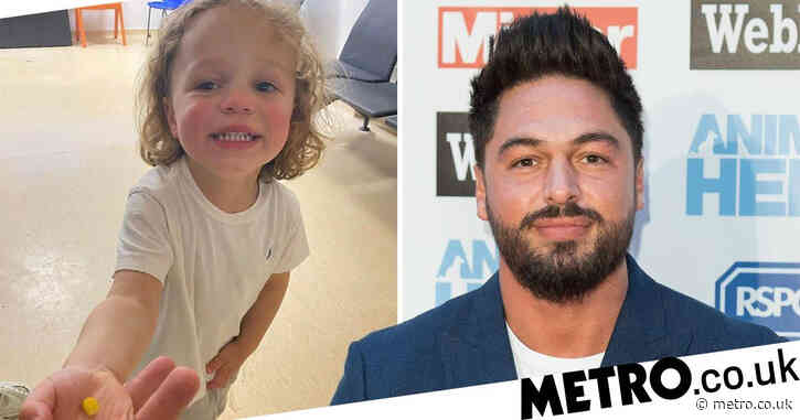 Mario Falcone's son, 2, rushed to hospital with sweetcorn stuck in nose but A&E drama takes funny twist