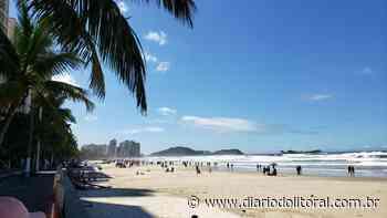 Movimento na praia das Pitangueiras, em Guarujá, na tarde desse sábado, 24/04/21 - Diário do Litoral