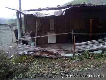 Afectada vivienda por derrumbe en la troncal 007 con salida Boconó-Portuguesa - Diario de Los Andes