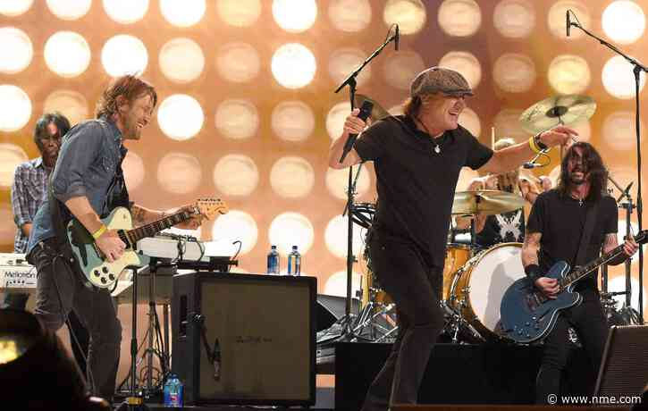 Watch Foo Fighters and Brian Johnson cover AC/DC's 'Back In Black' at Vax Live